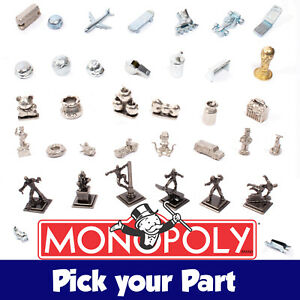 PICK YOUR PART - Monopoly Tokens / Movers / Playing Pieces - SPARE REPLACEMENTS