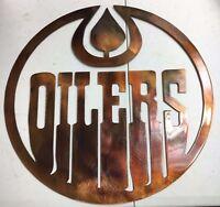 Edmonton Oilers Metal Wall Art Copper/bronze