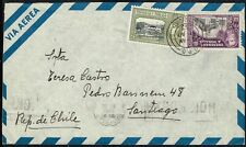 3829 TRINIDAD & TOBAGO TO CHILE AIR MAIL COVER 1953 TRINIDAD - SANTIAGO