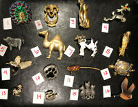 PICK A BROOCH PIN- VINTAGE -NOW- ANIMALS COW CAT OWL BIRD PIG TURTLE ETC BN59