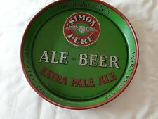 New listing Vintage Simon Pure & Ale-Beer Beverage Advertising Bar Metal Serving Tray