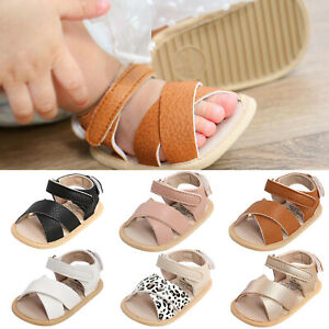 Baby Boys Girls Sandals Soft Non-Slip Rubber Sole Prewalker Flat Walking Shoes
