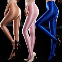 Femmes Taille Haute Stretch-Fit en cuir synthétique Shaper Shiny Wet Look Leggings S-5XL