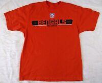 Reebok NFL Cincinnati Bengals AFC North Men's Size Medium Shirt Orange Graphic