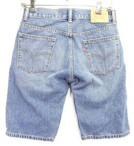New Levis 505 Big Boys Regular Taper Fit Vintage Denim Blue Jean Shorts 14 Reg