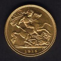Australia.  1915 Sydney - Half Sovereign..  Full Lustre.. Unc/BU