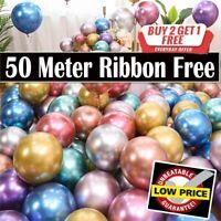 "Chrome Metallic Balloons 10""inch Birthday Party Arch Kit Wedding Easter Decor UK"