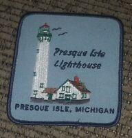 NEW PRESQUE ISLE LIGHTHOUSE Lake Huron Michigan Color EMBROIDERED PATCH SOUVENIR