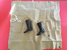 1/6 SOVIET WORLD WAR TWO PONCHO AND TANKER LEATHER BOOT LOT FROM ALERT LINE