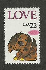 US 2202 @ (1986) MNH, LOVE Puppy, EFO: UFO Spot Over Tail