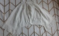 Antique 1800'S Womens Bloomers Pantaloons Victorian Crotchless Cotton Lace