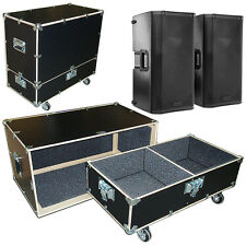 Road Case Kit w/Bare Wood Edges Fits 2 EV ZXA5 Speakers - 2 Compartments