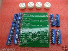 4SET 9pin B9A tube test diy Experiment prototyping pcb for EL84 ECC83 12AX7 6922