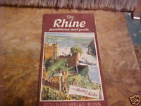 60'S RHINE PANORAMA AND GUIDE ROAD MAP MAINZ TO KOLN