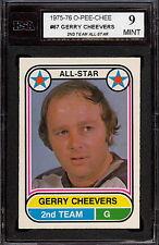 1975 76 OPC O PEE CHEE WHA #67 GERRY CHEEVERS AS KSA 9 MINT CLEVELAND CRUSADERS