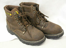 CAT Mens STEEL TOE Class 75 Boots Size 10 Leather Good Used Condition Lace Up