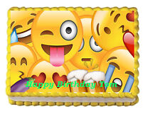 Emoji Edible Frosting Cake Topper Image Decoration Birthday Party 1/4 sheet