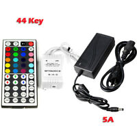 12V 5A 60W Power Supply + 44 Key IR Remote Control for 3528 5050 RGB LED Strip
