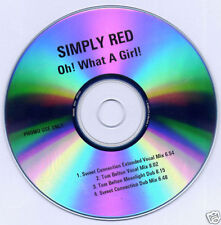 Simply Red Oh! What A Girl! 4-Remix Promo CD Tom Belton Sweet Connection