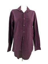 DKNY Shirt  Regular Fit Long Sleeve Full Button Front Men's Burgundy Size 15.5