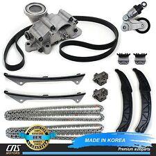 GENUINE 06-10 For Hyundai Kia 3.3L 3.8L Timing Chain Full Kit Oil Pump Tensioner