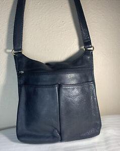 Fossil Small  Black Leather Purse Crossbody Bag