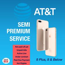 AT&T ATT iPhone Unlock Service | Haven´t paid off Unpaid bills | Contract | 8+ 8