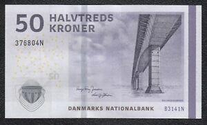 DENMARK DANMARK 50 KRONER 2009 SIGNATURE HUGO FREY JENSEN BANKNOTE UNC