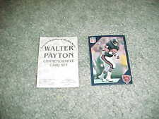 1988 Chicago Bears Walter Payton Commemorative Football Card Set Promo Card