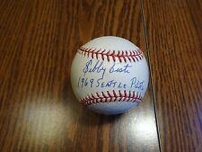 Sibby Sisti 1969 SEATTLE PILOTS Signed Auto OML Baseball PSA/DNA Cert. Autograph