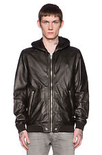 DIESEL L-AKURA LEATHER JACKET SIZE S 100% AUTHENTIC