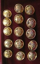 Russian Army Military Star Sickle and Hammer Uniform Metal Buttons,15 Pieces New