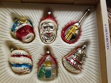 The Imperial Collection Christmas Tree Ornaments 6 Ornaments 1974 German