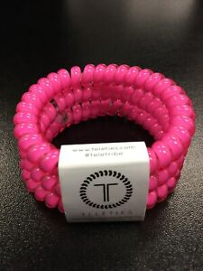New Teleties 3 Pack Small Hairties Hot Pink Bracelet Ponytail Holder