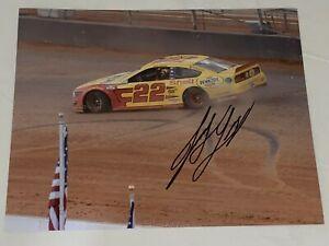 Joey Logano BRISTOL DIRT RACE 2021 VICTORY PENNZOIL WIN autographed 8x10 photo