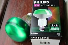 Philips Spotline R95 Halogen ES E27 BC FROSTED GREEN Reflector Bulb 75w (112w)