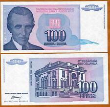 Yugoslavia, 100 Dinara, 1994, Pick 139, UNC > Tesla