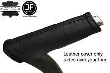 BLACK REAL LEATHER HANDBRAKE HANDLE COVER FITS AUDI A3 8P 04-12