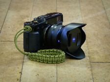 "Yellow ""Spotty"" Paracord Wrist Strap for DSLR Compact Cameras Fuji Sony Olympus"