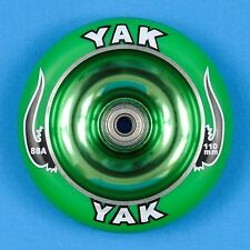 YAK Scooter Wheel 110mm Green w/Bearings - Razor Lucky District Phoenix