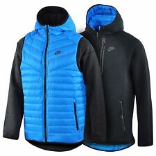 Nike Men's New Black Aeroloft 800 Reversible Hoodie And bodywarmer Large / XL