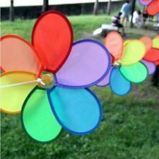 8Pcs/Set Flower Windmill Wind Spinner Tent Garden Decoration Multi Colors