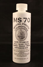 COIN CLEANER + BRIGHTENER - MS70 - GOLD, SILVER, NICKEL, COPPER - 8 oz. Bottle