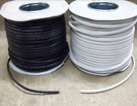 Black white 0.5mm flat twin lighting cable 3amp you choose length 1 - 50 metres