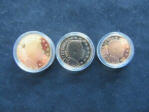 Lot 10 + 20 + 50 Cent Euro BE Luxembourg 2017