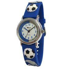 Ravel infantil Time Teacher Fútbol reloj con 3D Gráficos sobre azul