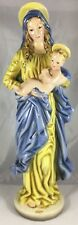 "Antique Austria Wien Keramos  16"" Tall Religious Holy Madonna Jesus Child Figure"