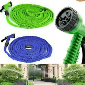 50-200 FT Long Retractable Expandable Expanding Garden Hose Pipe With Spray Gun