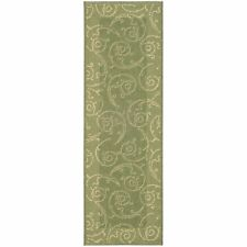 Indoor/Outdoor Oasis Olive/Natural Runner Rug 2' 3 x 10'