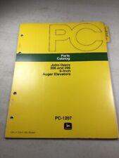 John Deere 306 & 396 6 Inch Auger Elevator Parts Catalog